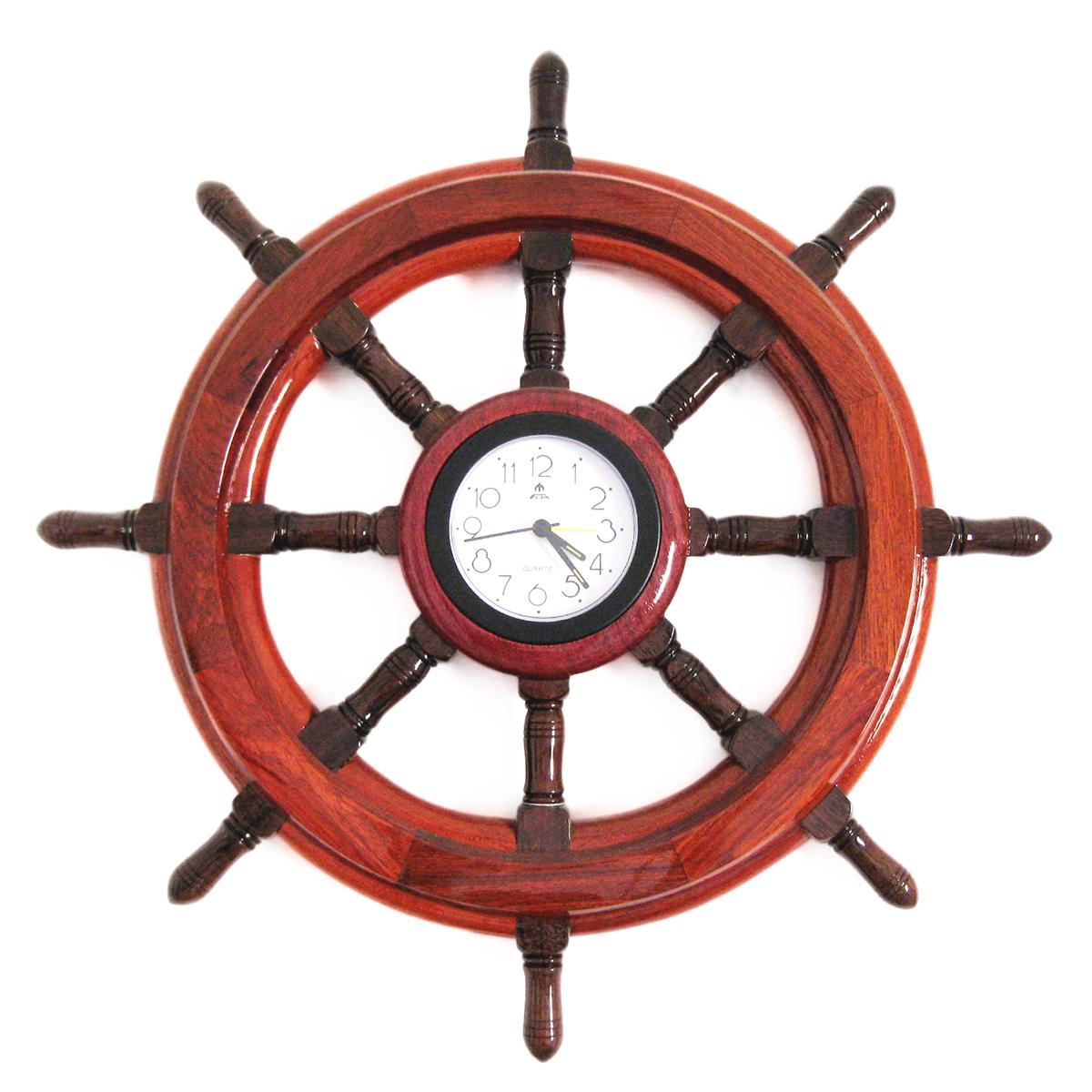Hajókormány órával 40 cm Kormány, Horgony