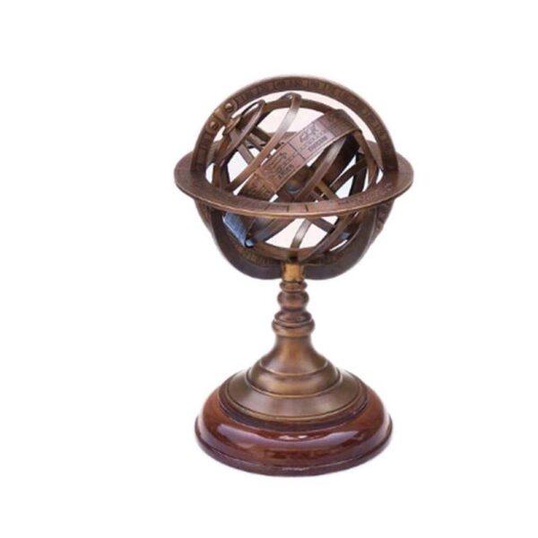 Armilláris gömb fatalpon 30 cm Armilláris gömb