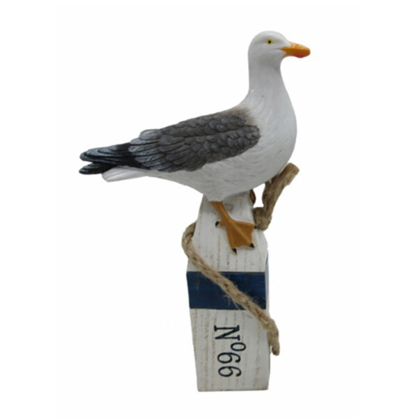 Sirály cölöpön 16 cm Mókás figurák, szobrok