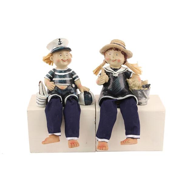 Ülő vitorlázó gyerekek Mókás figurák, szobrok