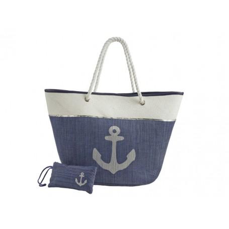 Strandtáska kék 55 cm Hajós divat, táska