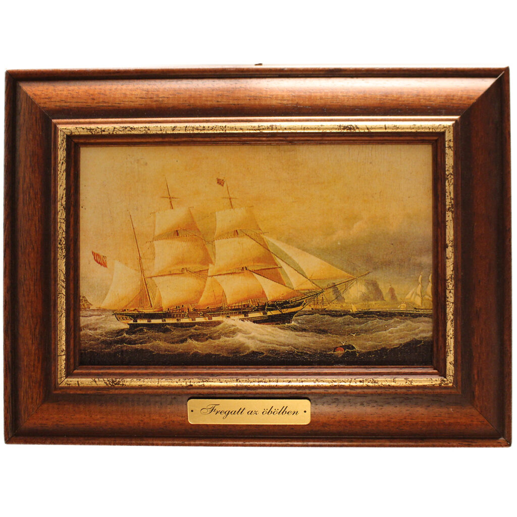 Festmény Fregatt az öbölben Festmények, képek