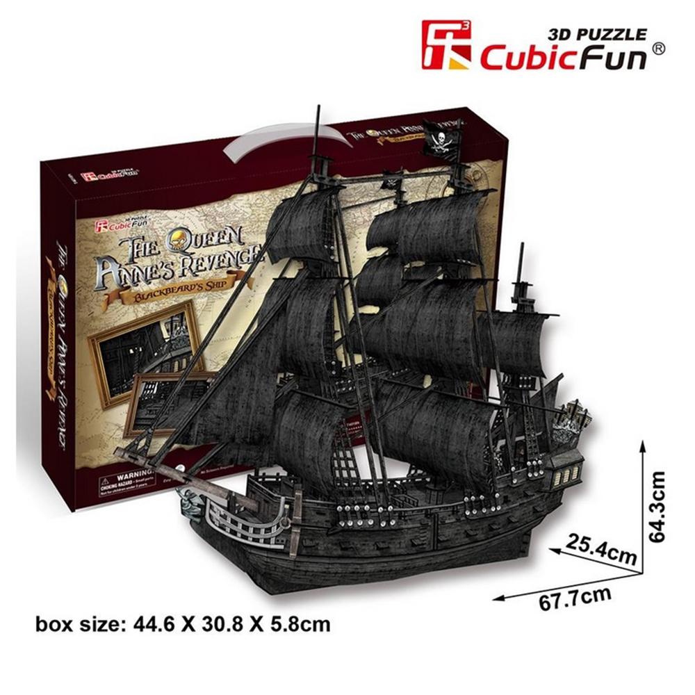 Kalózhajó Queen Anne 3D puzzle