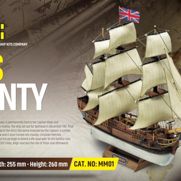 HMS Bounty hajómakett építőkészlet Gyerek kitt