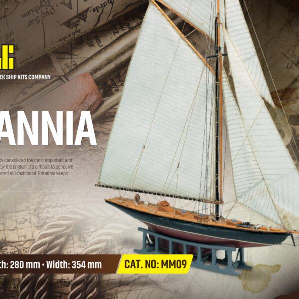 Britannia hajómakett építőkészlet Gyerek kitt