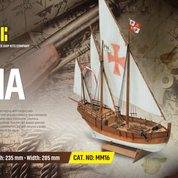 Nina hajómakett építőkészlet Gyerek kitt