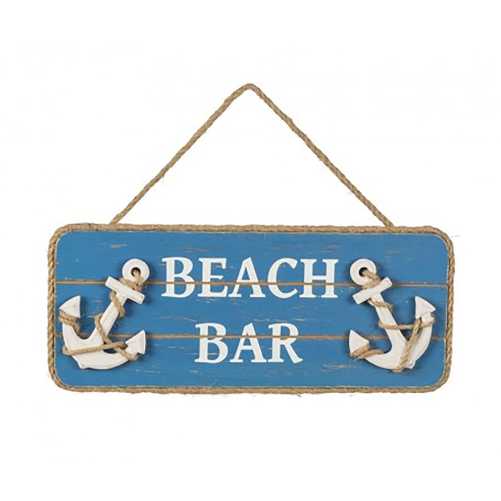 """Fa tábla BEACH BAR"""" 31cm Cégér, tábla"""