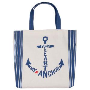 Strandtáska horgonyos Hajós divat, táska