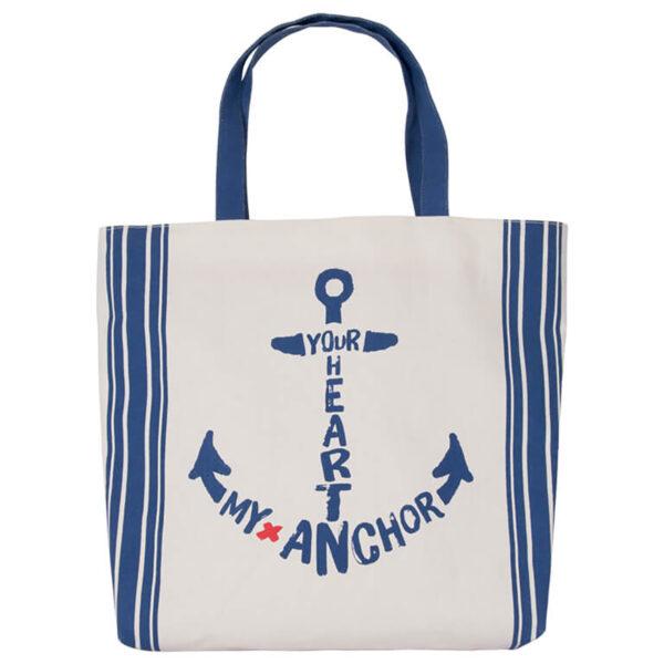 Strandtáska Sail away 37 cm Hajós divat, táska