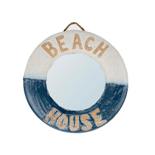 Dekor mentőöv fa beach house tükörrel Mentőöv